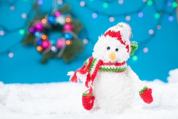 Lindo boneco de neve artesanal de natal