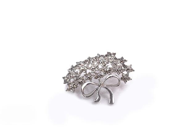 Lindo broche de prata