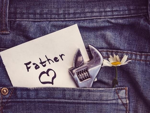 Lindo cartão brilhante para o seu amado pai