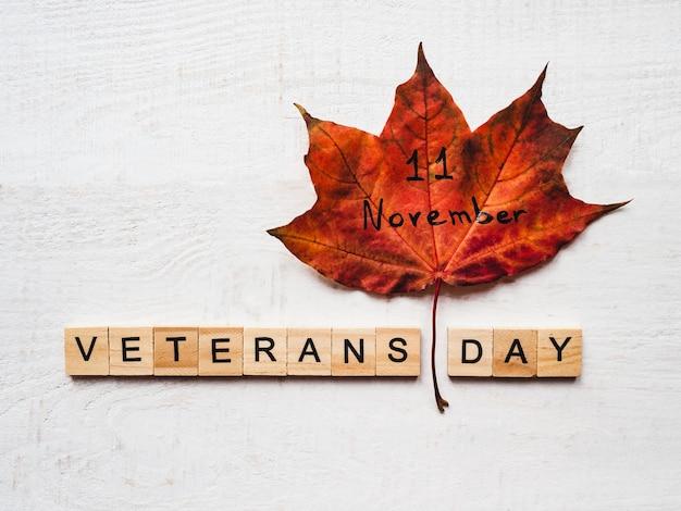 Lindo cartão no dia dos veteranos.