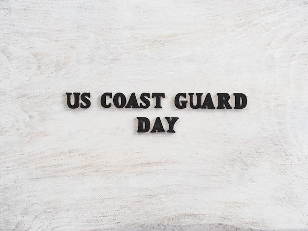 Lindo cartão para o dia da guarda costeira dos eua