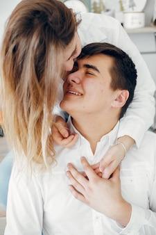 Lindo casal passa o tempo