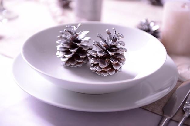 Lindo cenário de mesa de natal