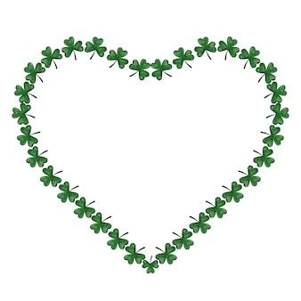 Lindo desenho em aquarela de trevo verde brilhante