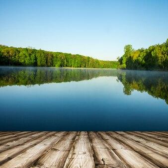 Lindo dia no lago
