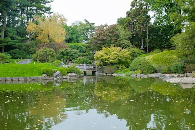 Lindo dia no parque de outono. o conceito de recreação e turismo.