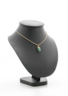 Lindo e luxuoso colar com jóias stand pescoço