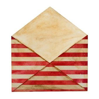 Lindo envelope postal pintado com as cores nacionais da bandeira americana