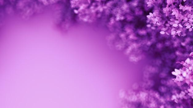 Lindo fundo roxo. renderização em 3d.