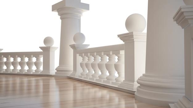 Lindo interior clássico com terraço