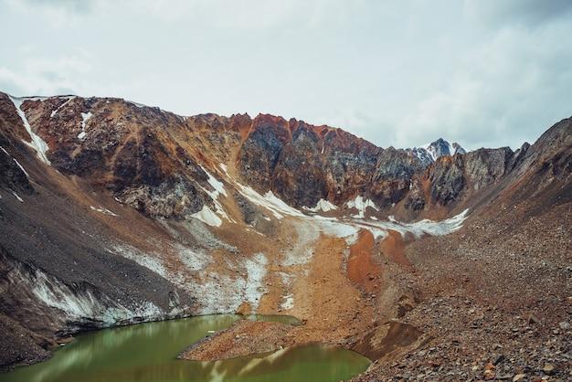 Lindo lago glacial verde