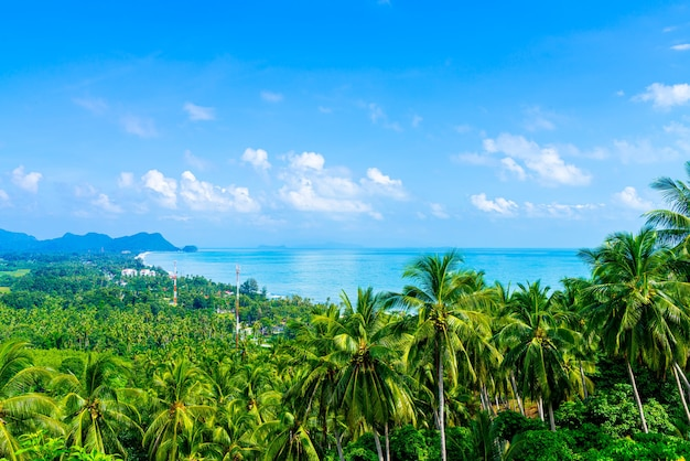 Lindo oceano mar veiw no mirante naern thae wada em nakhon si thammarat, tailândia