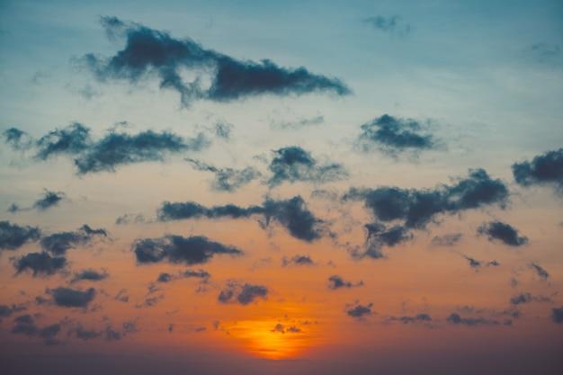 Lindo pôr do sol.