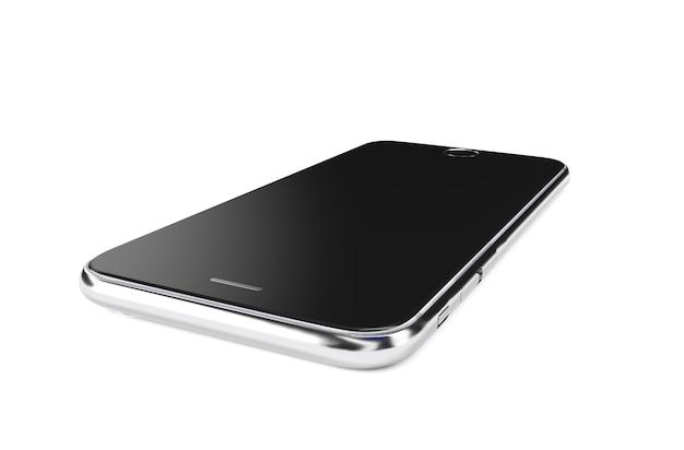 Lindo smartphone em renderização 3d de fundo branco