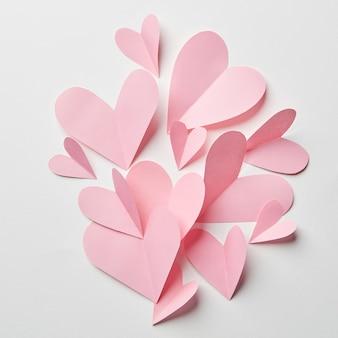 Lindos corações rosa para o dia dos namorados