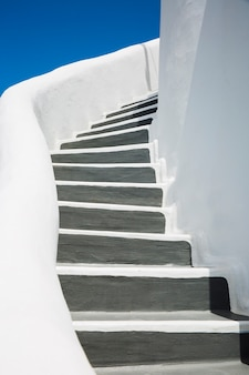 Lindos detalhes da ilha de santorini, grécia