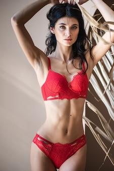 Lingerie vermelha feminina