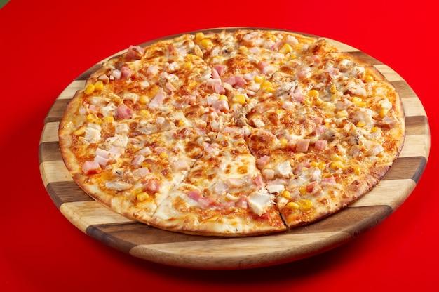 Língua de pizza pura. cozinha italiana. estúdio