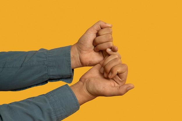 Linguagem de sinais gesto com a mão