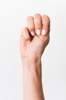 Linguagem gestual mão gestos close-up