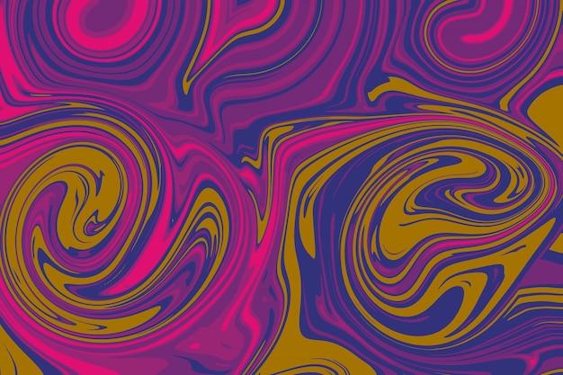Linha abstrata como óleo líquido no fundo por ilustração