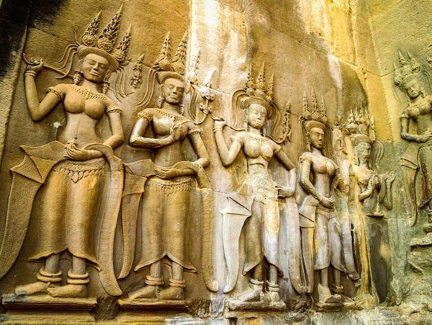 Linha arte angkor wat angkor thom camboja
