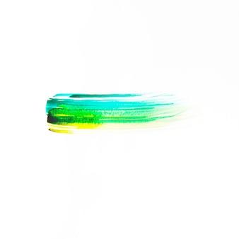 Linha azul-verde e amarela