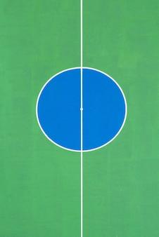 Linha circular de campo de futebol