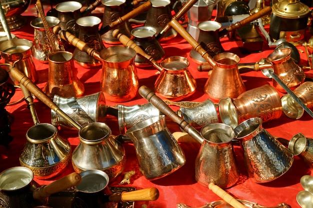Linha de caldeiras de café armênias para venda no mercado de yerevan, armênia