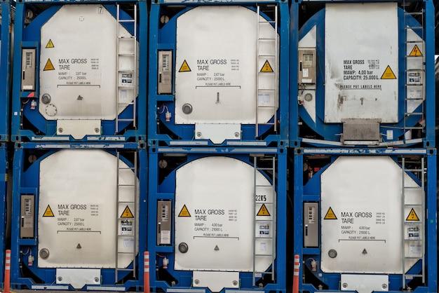 Linha de contêiner de substâncias gasosas