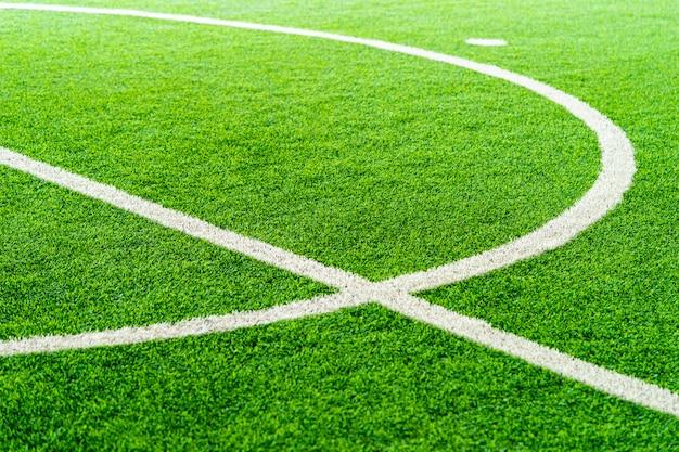 Linha de curva de um campo de treinamento de futebol de futebol indoor