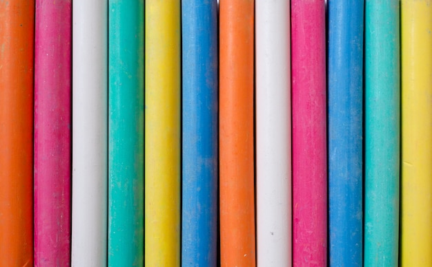 Linha de giz colorido