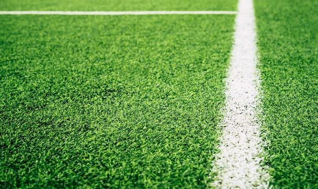 Linha de limite de um campo de treinamento de futebol de futebol indoor