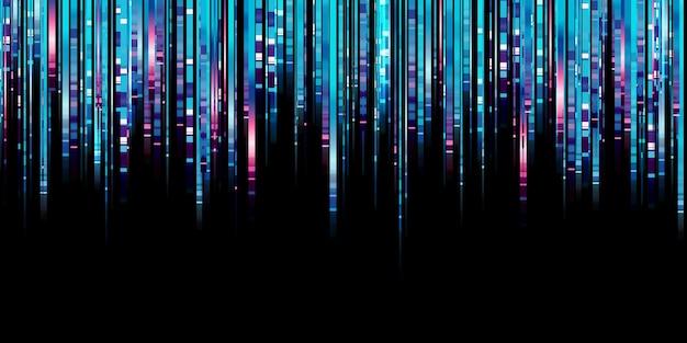 Linha de luz abstrata brilho azul led linha movimento tecnologia fundo ilustração 3d