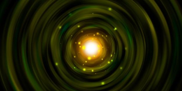 Linha de luz circular giratória de explosão de luz de laser espiral de luz de laser ilustração 3d