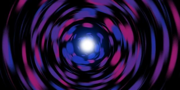 Linha de luz circular giratória de explosão de luz laser espiral de luz laser ilustração 3d