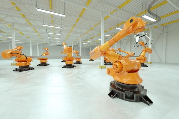 Linha de montagem automática em uma fábrica