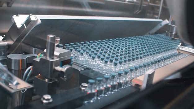 Linha de produção para embalagem de frascos e ampolas médicas