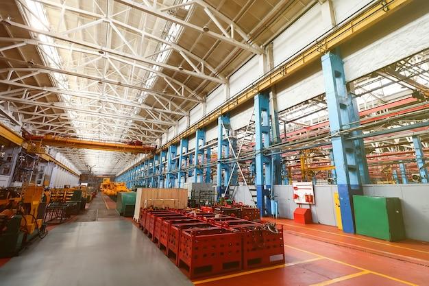 Linha de produção para veículos de grande porte na fábrica
