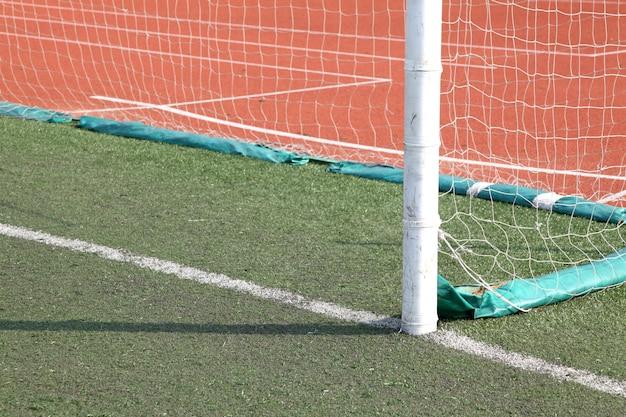 Linha do gol de futebol