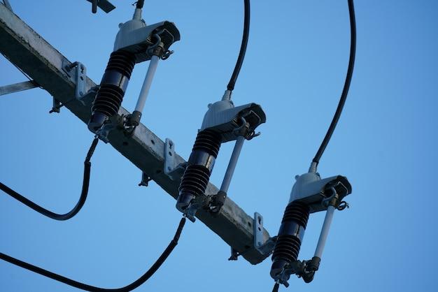 Linha elétrica isolante elétrico de alta tensão
