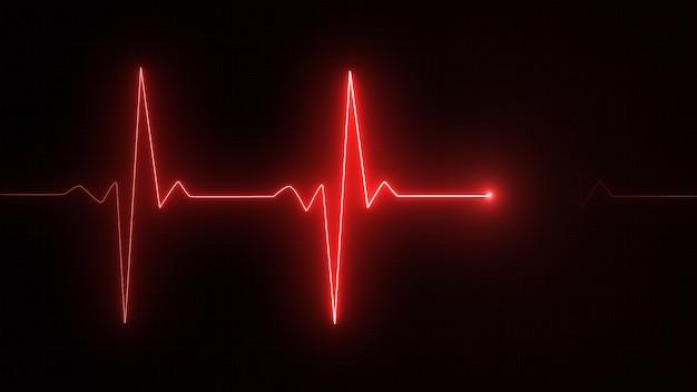 Linha vermelha do cardiograma