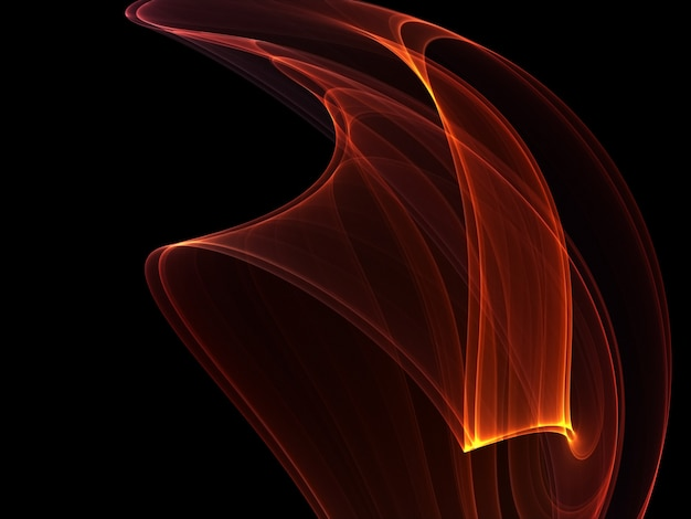 Linhas brilhantes de fogo em um fundo escuro Foto Premium