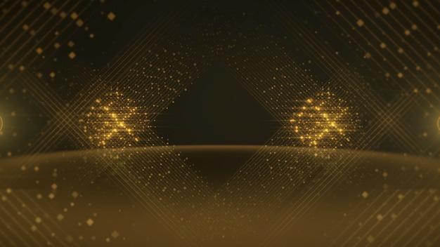 Linhas coloridas de pontos, fundo abstrato. estilo dinâmico elegante e luxuoso para ilustração 3d de prêmios