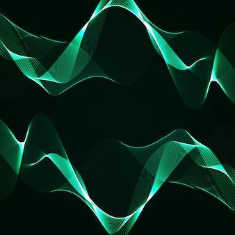 Linhas curvas abstratas em fundo preto. ilustração moderna.
