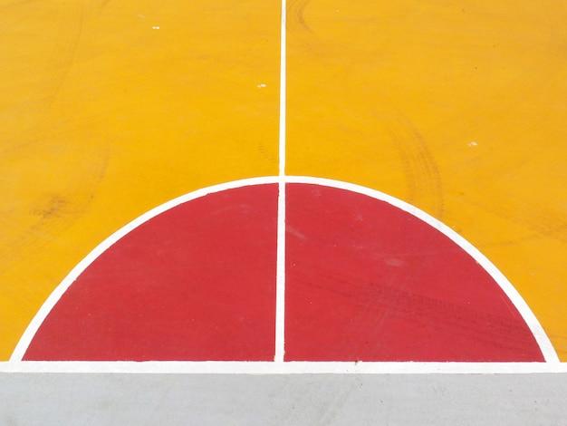 Linhas da quadra de basquete