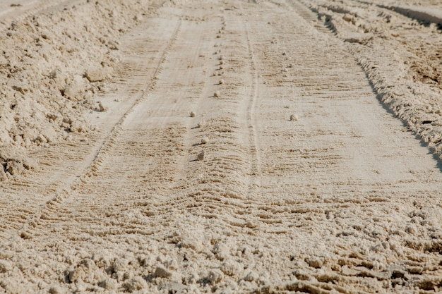 Linhas de areia na praia