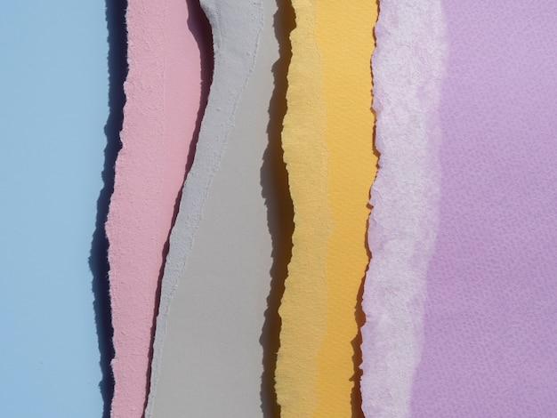 Linhas de bordas de papel rasgado abstratas