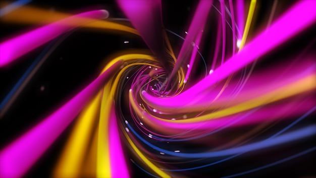 Linhas de cordas multicoloridas digitais torcendo