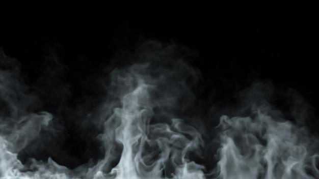 Linhas de fumaça brancas